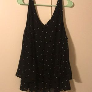 Lane Bryant Sz 28 polka dot layered tank